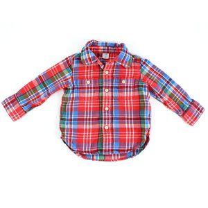 GAP flannel shirt, size 18-24M